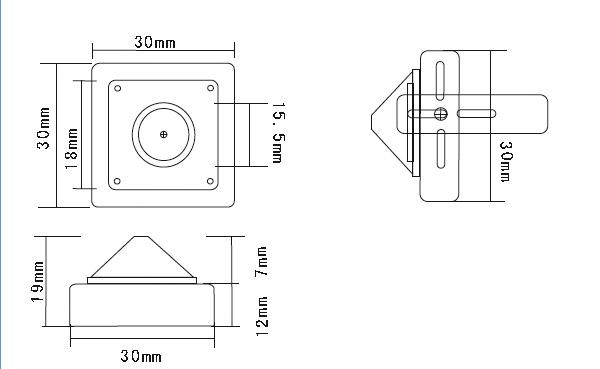 700TV Line Super Low Light WDR Pinhole Camera