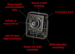 Color Mini CCD Pinhole Camera