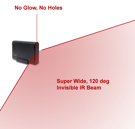 80ft range, 120 deg, 940nM, total invisible, super bright, IR Lamp disguised in a HD Case