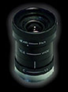 C-Mount manual zoom lens (5.0mm ~ 50.0mm) with manual iris and focus control.