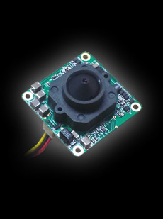 B/W 0.0003 Lux, 1/2in CCD Star Light, High Res, Pinhole Board Camera