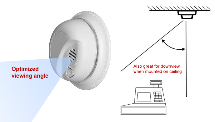 Smoke Detector Covert Wi-Fi Digital Wireless Web Camera with recording & remote access