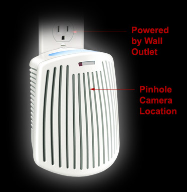 Air Freshener Covert Wi-Fi Digital Wireless Web Camera with recording & remote access
